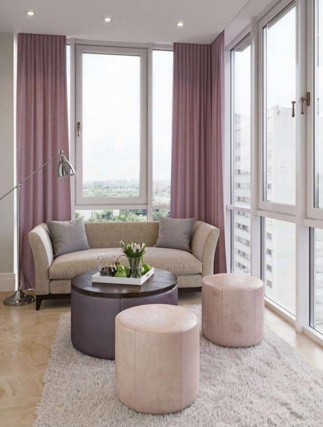 Дизайн гостиной на балконе