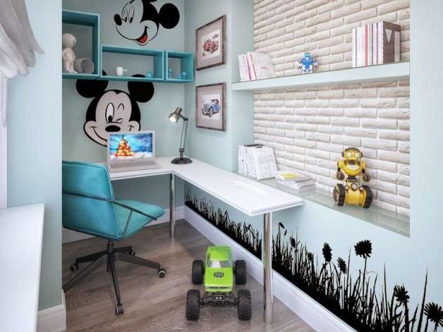 Дизайн детской комнаты на балконе