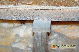 Звукоизоляция деревянных перекрытий - черновой пол ДСП - ОСБ