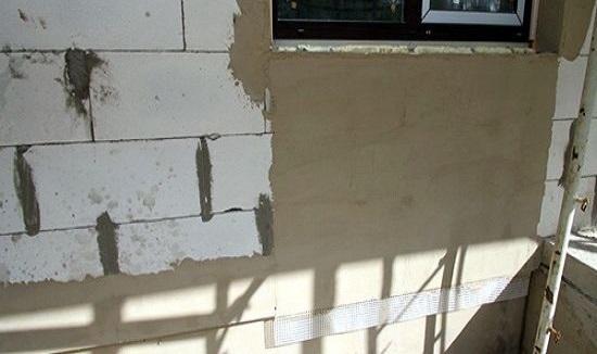 штукатурка цементным раствором по пеноблоку