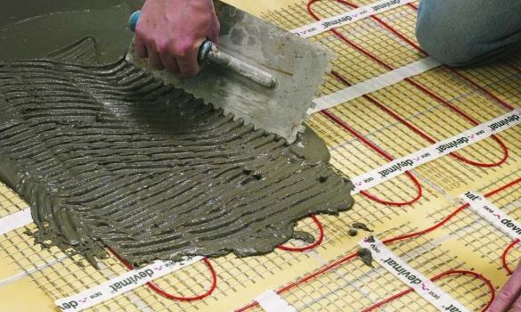Устройство стяжки электрического теплого пола под плитку