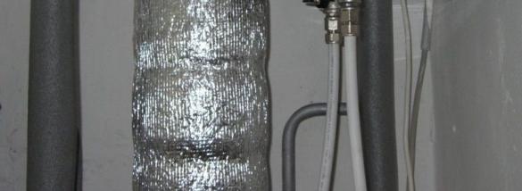 Теплоизоляция труб отопления в неотапливаемом (холодном) помещении