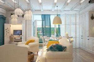 Средиземноморский стиль в интерьере квартиры-студии