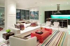 Интерьер маленькой квартиры-студии в стиле поп-арт