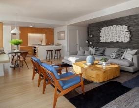 Оригинальная идея оформления интерьера квартиры-студии