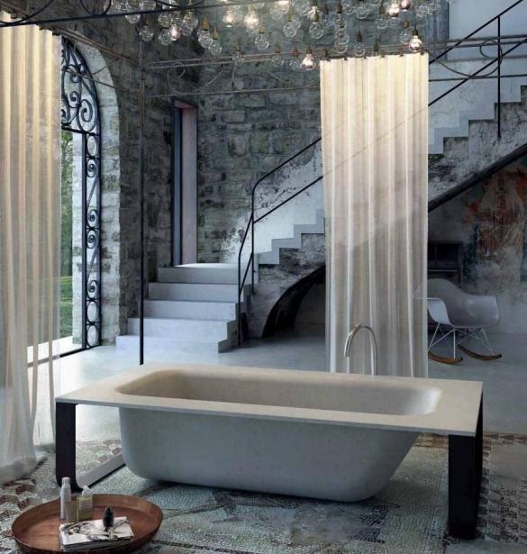 Ванная в дизайне квартиры-студии