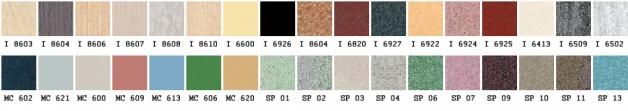 Палитра цветов плитки фасадного керамогранита