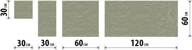 Размеры плитки фасадного керамогранита