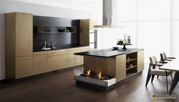Дизайн интерьера кухни в частном доме