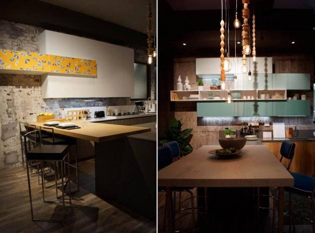 Пример оформления интерьера кухни в частном доме