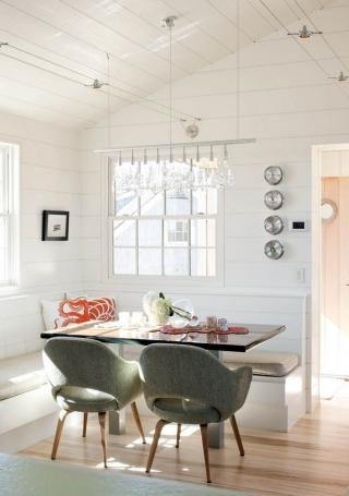 Дизайн интерьера кухни частного дома в скандинавском стиле