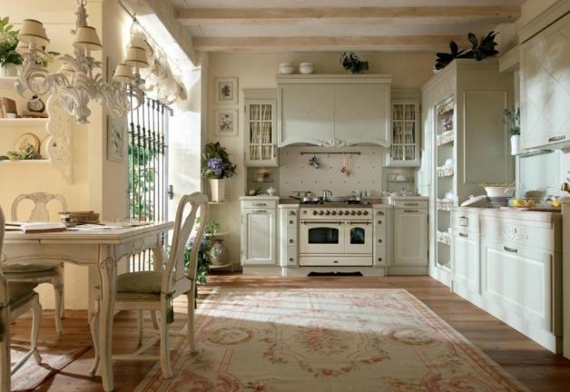 Дизайн интерьера кухни частного дома в стиле Прованс
