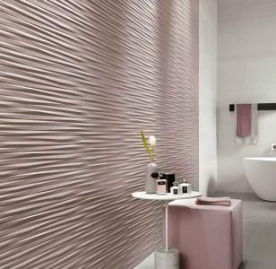 Интерьер ванной с 3D панелями