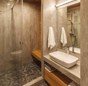Дизайн ванной с панелями