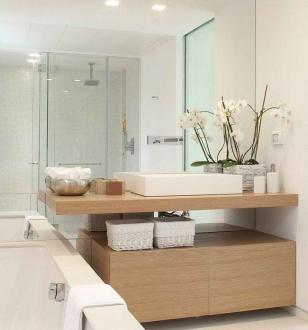 Зеркало на всю стену в ванной